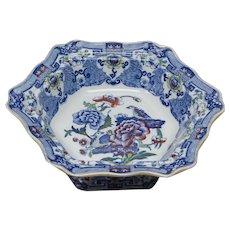 Mason's Ironstone Vegetable Dish Blue Pheasant Pattern