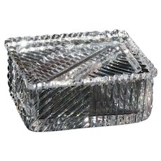 Cut Crystal Trinket Box
