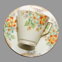 Mid Century Delphine Teacup and Saucer