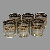 Six (6) Culver Mid-Century Rocks Glasses - Rare