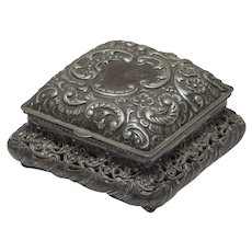 Meriden Quadruple Plate Jewelry Casket