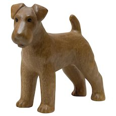Wood Carving of Airedale Terrier