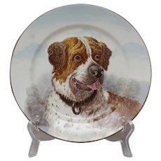 Antique Cauldon Dog Plate