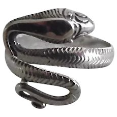 Vintage Sterling Silver Coiled Snake Ring