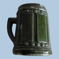 Vintage Miniature Dollhouse Green Pottery Mug