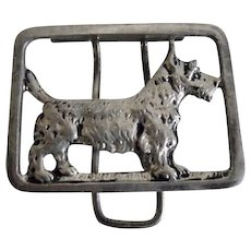 1930's Sterling Silver Scotty Dog Clip