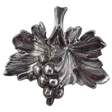 Vintage Reed & Barton Sterling Grape Cluster Pin