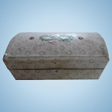 Darling Antique Cardboard Papered Dolly Trunk