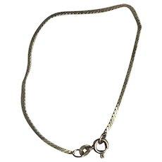 "Vintage 14k Yellow Gold Serpentine Chain Bracelet 6 1/2"" Italy 585"