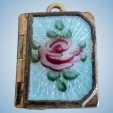 Vintage Tiny Guilloche Locket Medal