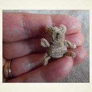 Vintage Teeny Tiny Little Wool Dolly Teddy Bear
