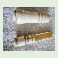 Antique 1820's Sailors Americana Folk Art Carved Bone Apple Corer Or Marrow Scoop