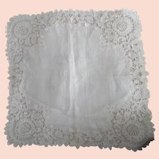 Edwardian White Lace Wedding Hanky