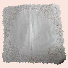 Edwardian White Lace Wedding Hanky