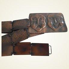 Vintage 1940-50's Hammered Copper Belt