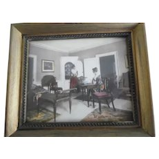 Small Wallace Nutting Signed Hand Colored Print