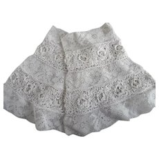 Victorian Pair Of  White Lace Dress Cuffs