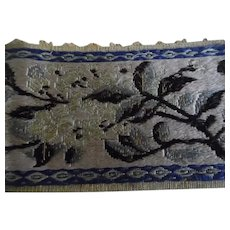 Vintage Chinese Multi Color Silk Ribbon Trim