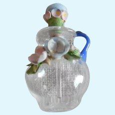 Vintage Little Doll Size Blown Glass Perfume Bottle