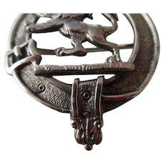 Antique Scottish Clan Lion Kilt Pin