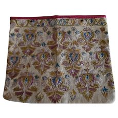 Vintage Hand Embroidered Peasant Textile Purse