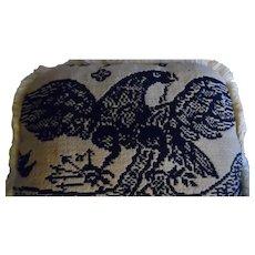 Antique Jacquard Fabric Eagle Pillow