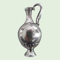 Vintage Sterling Silver Ewer Pin Signed Greece