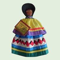 Vintage Large 1950's Florida Seminole Doll With Original Tag
