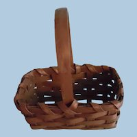 Very Old Little Miniature Hand Made Gathering Basket