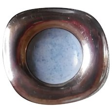 Modernist Sterling Silver Larimar Rounded Square Pin
