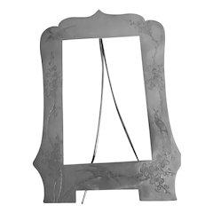 Vintage Asian Sterling Silver Signed Picture Frame