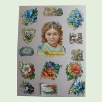Victorian Page With 14 Die Cuts Many Sizes