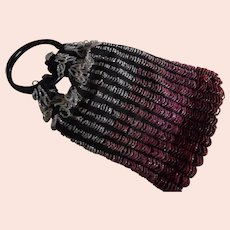 1920's Art Deco Multi Colored Beaded Purse