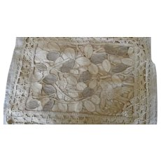 Antique Victorian/Arts and Crafts Pair Of Cutwork Lace Pillow Covers