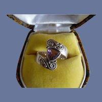 Vintage Signed Sajen 925 Amethyst Ring