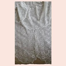 Beautiful Antique White Lace Lappet Very Long