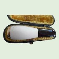 Vintage Meerschaum Gold Filled Cigar Holder In Original Box