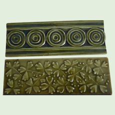 Two J.&J G Low Arts and Crafts Tiles