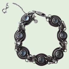 Vintage 950 Sterling Silver Moonstone Bracelet