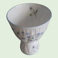 Vintage Lovely Blue Rock Pattern Double Egg Cup By Shelley