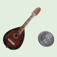 Vintage Miniature Dollhouse Mandolin Inlaid With MOP