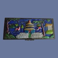 Lovely Vintage Early 1900's Chinese Enamel Stamp Box