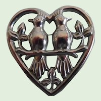 Flash 3 Day $5.00-$20.00 Sale!  Large Sterling Heart Pin