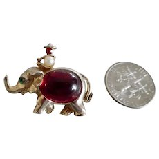 Fabulous Fifties Little Elephant Red Jelly Belly Scatter Pin