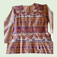 Antique Hand Sewn Embroidered Ethnic Silk Blouse