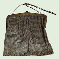 Antique. Gold Colored Chain Mesh Evening  Purse