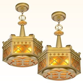 Pair of Quality Gothic Chandeliers ANT-1011