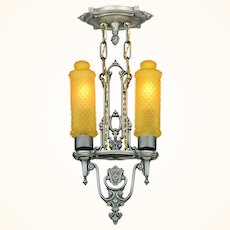 Art Deco 2 Light Pendant by Riddle ANT-1017