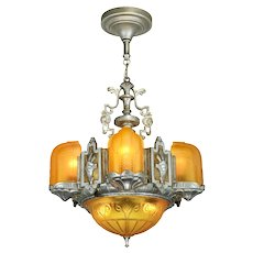Beautiful Top-of-the-Line Art Deco Chandelier ANT-1040