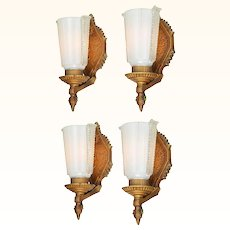 Lovely Set of FOUR 1920 Edwardian Wall Sconces ANT-1042